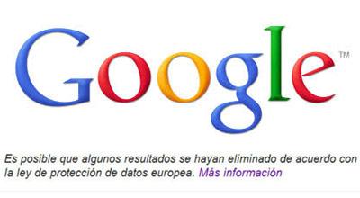 Google borra los primeros enlaces por el derecho al olvido